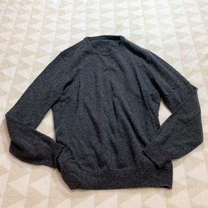 J crew everyday cashmere crew neck sweater gray